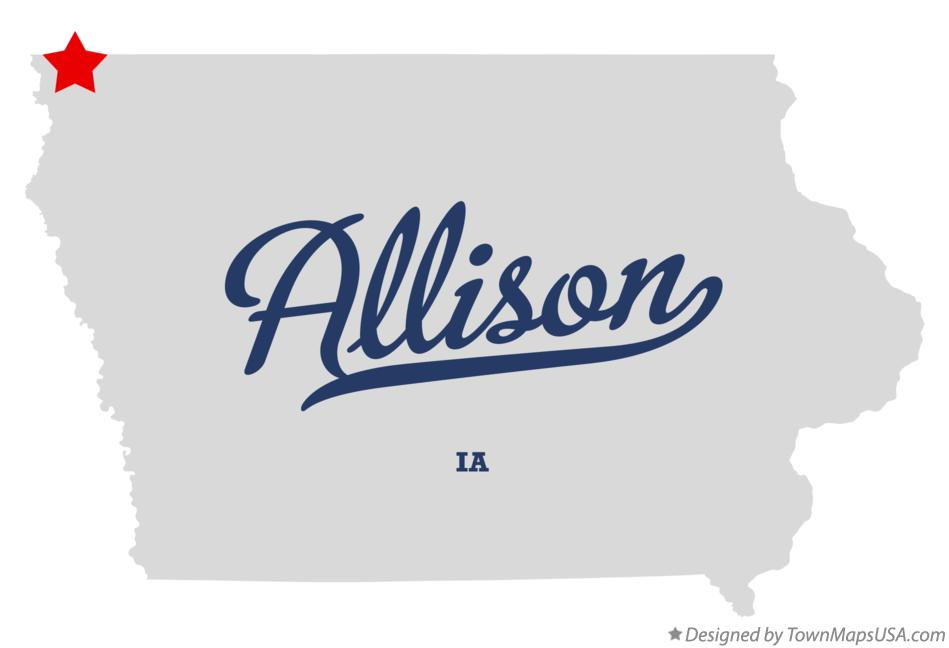 Map of Allison Iowa IA