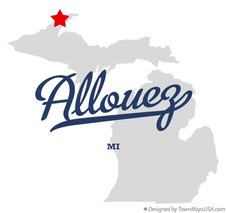 Map of Allouez Michigan MI