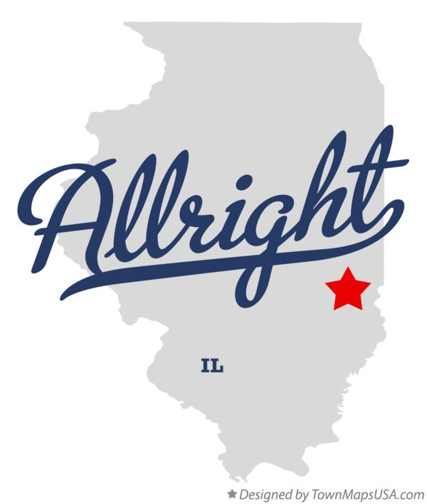 Map of Allright Illinois IL