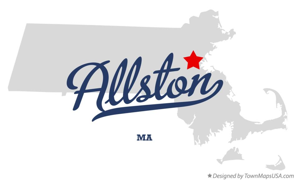 Map of Allston Massachusetts MA