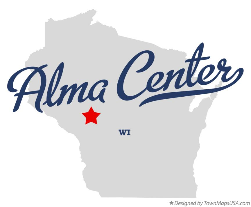 Map of Alma Center Wisconsin WI