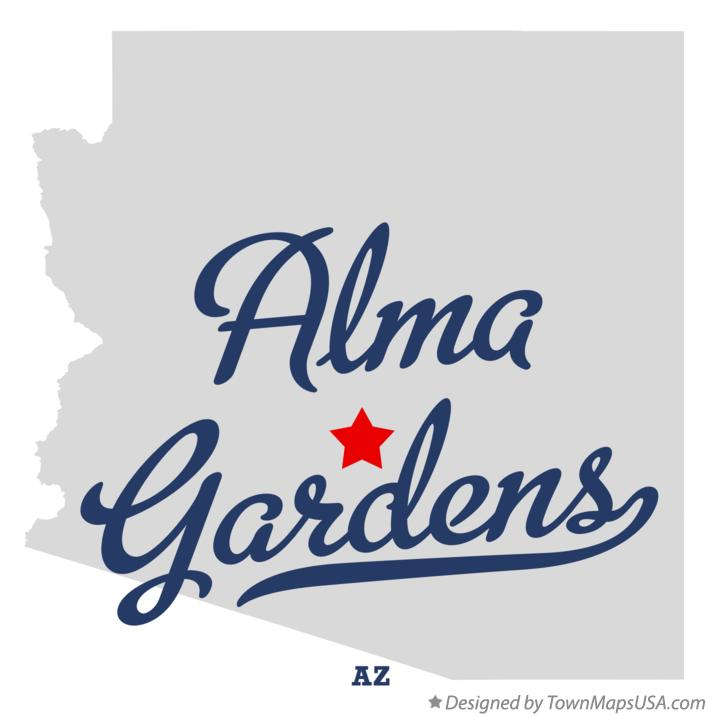 Map of Alma Gardens Arizona AZ