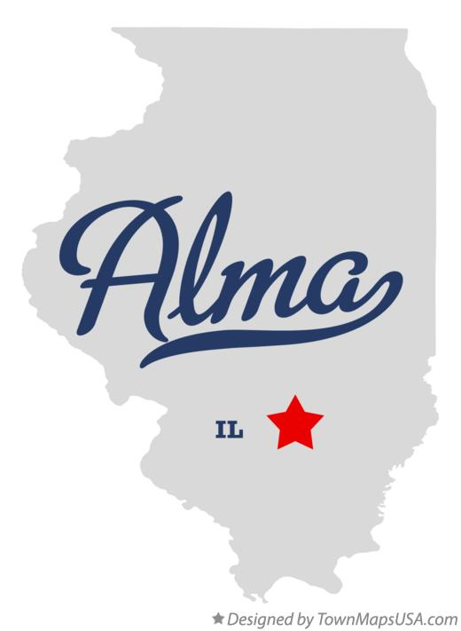 Map of Alma Illinois IL