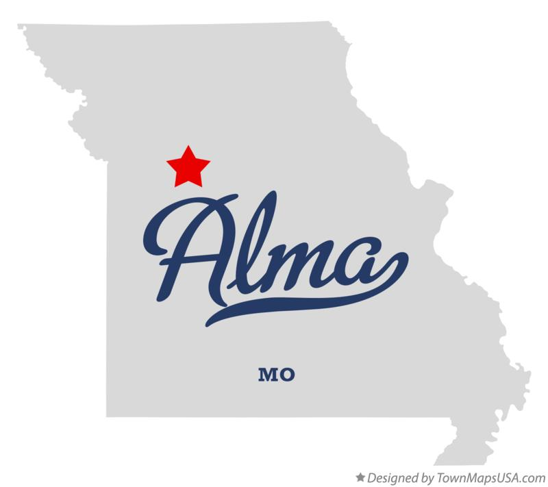Map of Alma Missouri MO