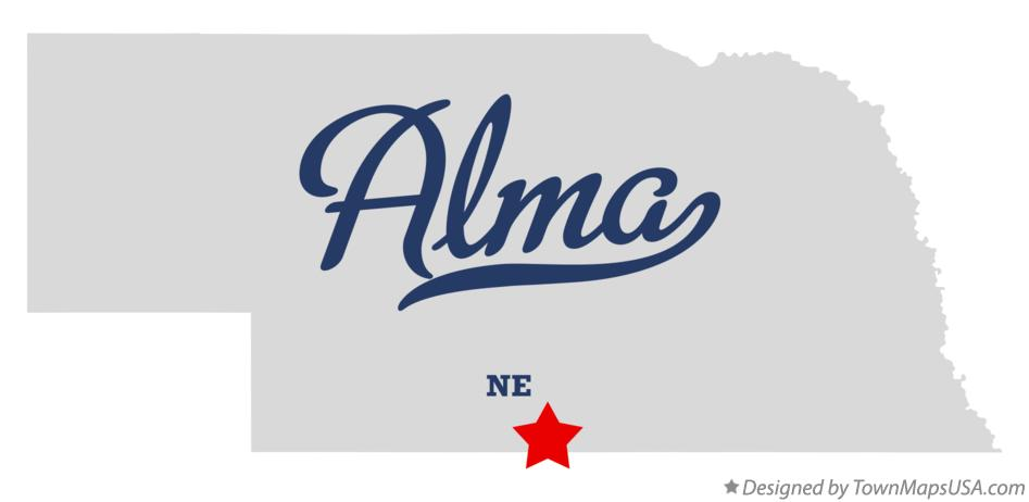 Map of Alma Nebraska NE