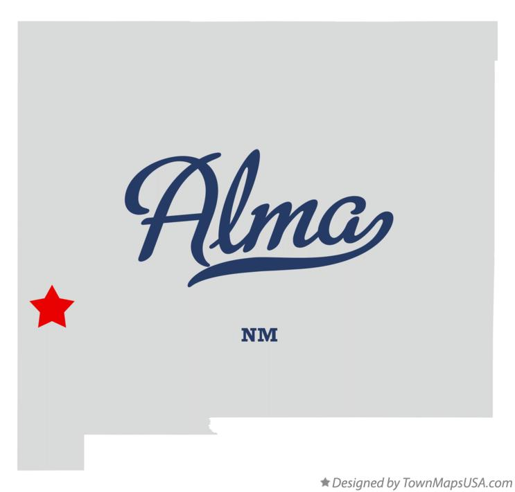 Map of Alma New Mexico NM