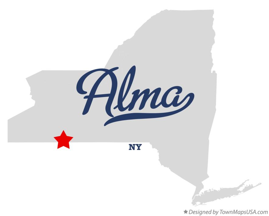 Map of Alma New York NY