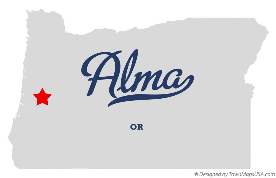 Map of Alma Oregon OR