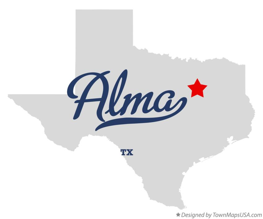 Map of Alma Texas TX