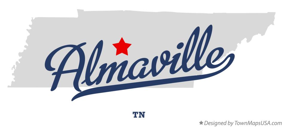 Map of Almaville Tennessee TN