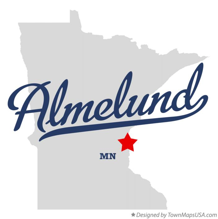 Map of Almelund Minnesota MN