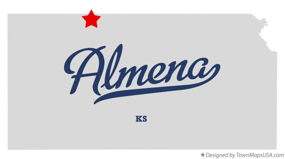 Map of Almena Kansas KS