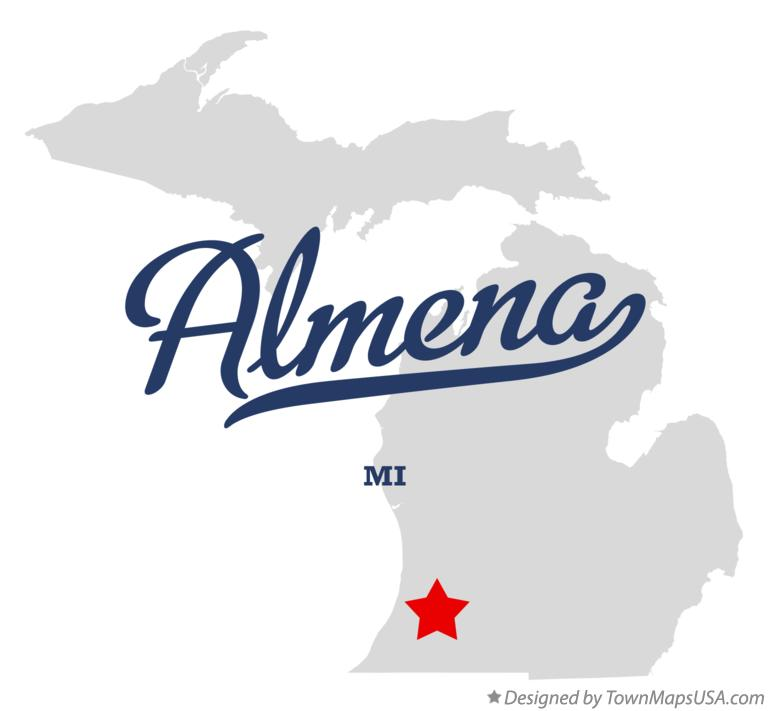 Map of Almena Michigan MI