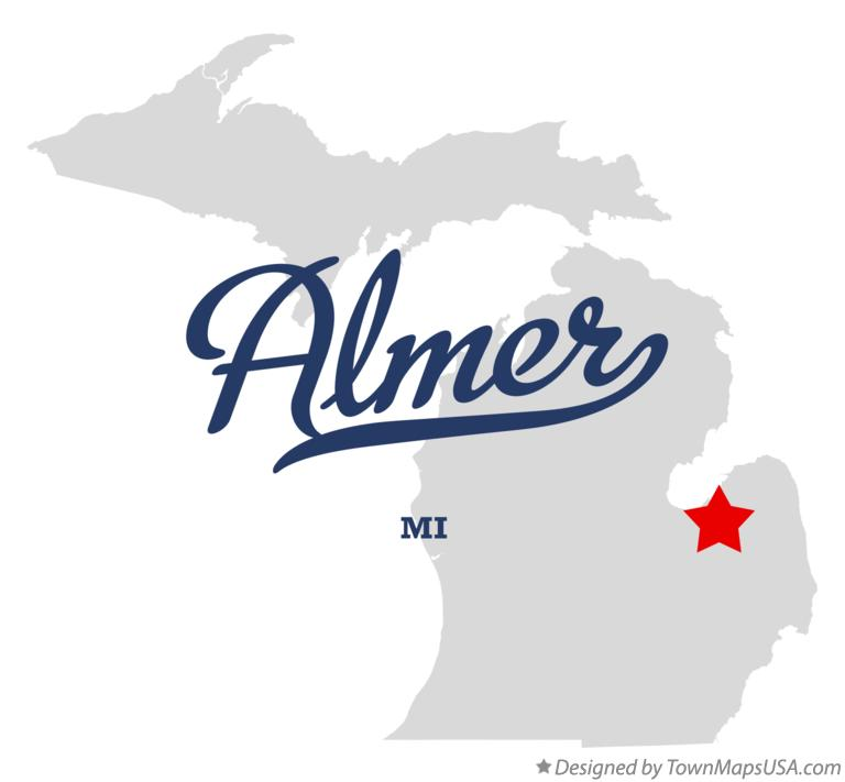 Map of Almer Michigan MI