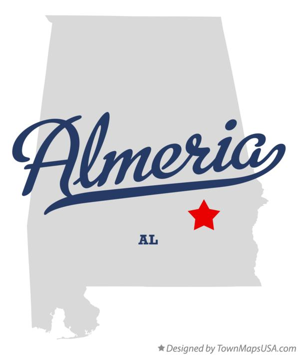 Map of Almeria Alabama AL
