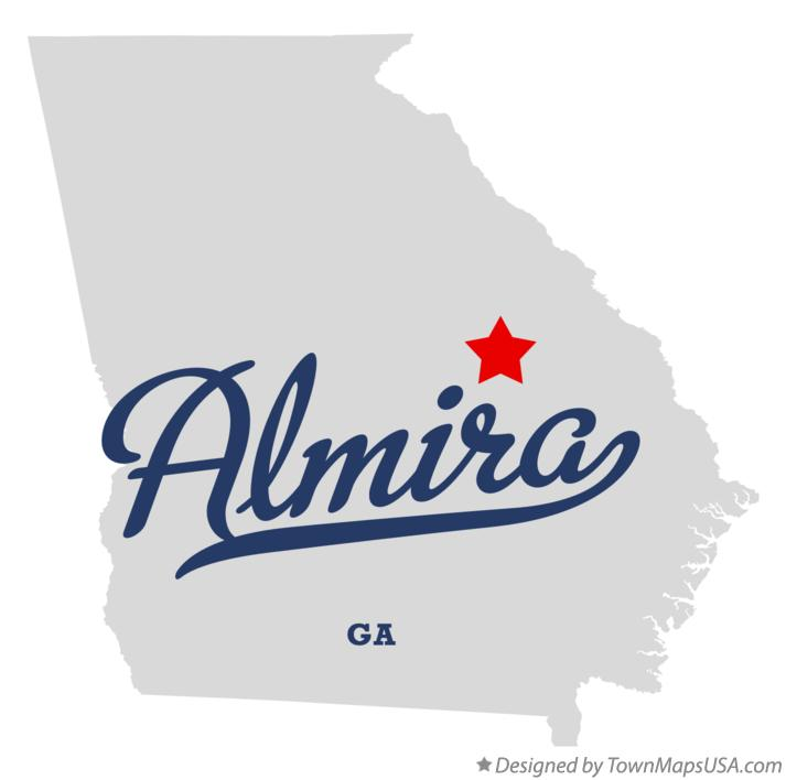 Map of Almira Georgia GA