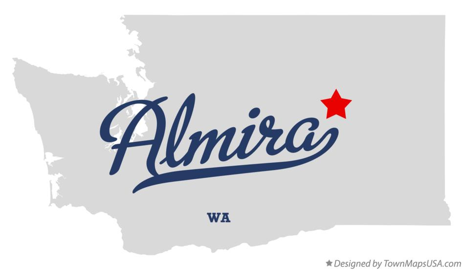 Map of Almira Washington WA