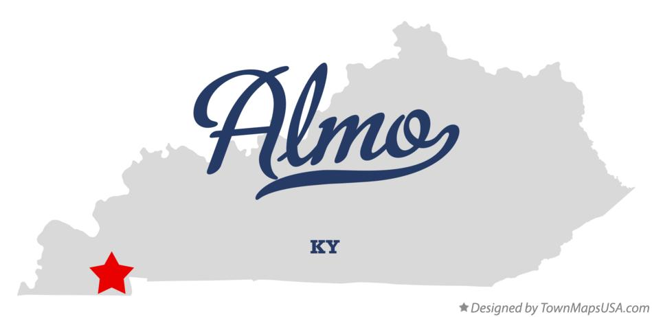 Map of Almo Kentucky KY