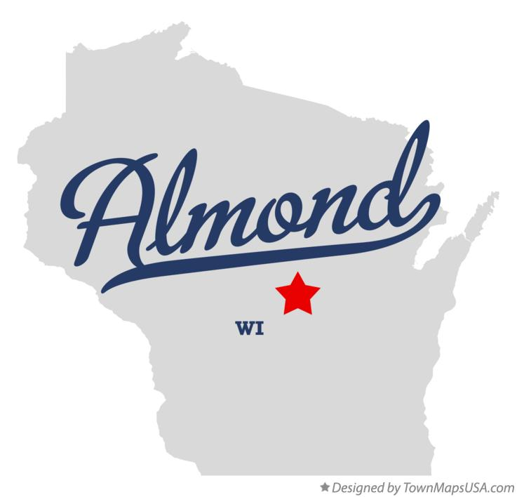 Map of Almond Wisconsin WI