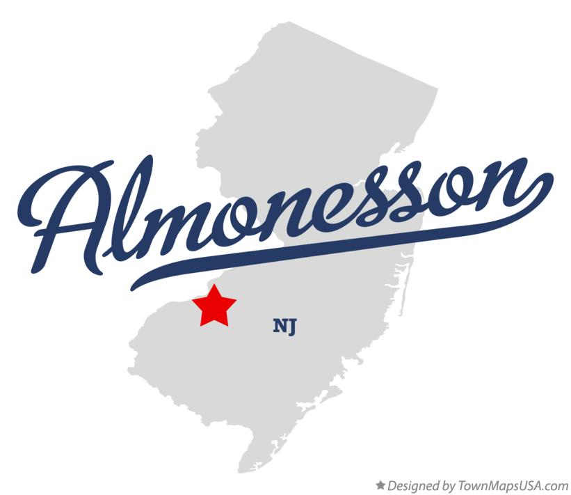 Map of Almonesson New Jersey NJ
