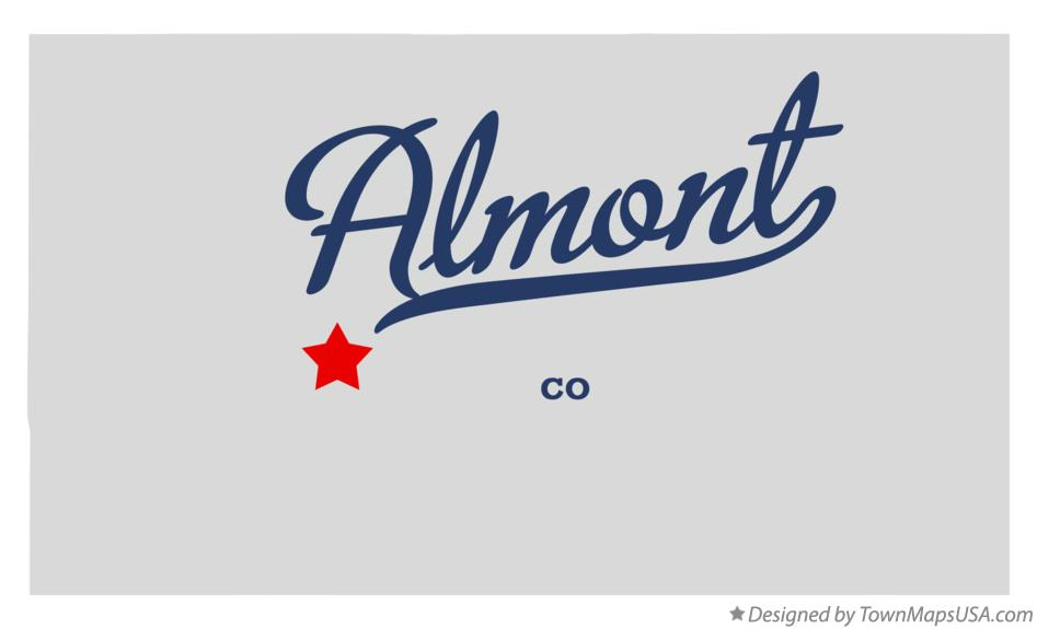 Map of Almont Colorado CO