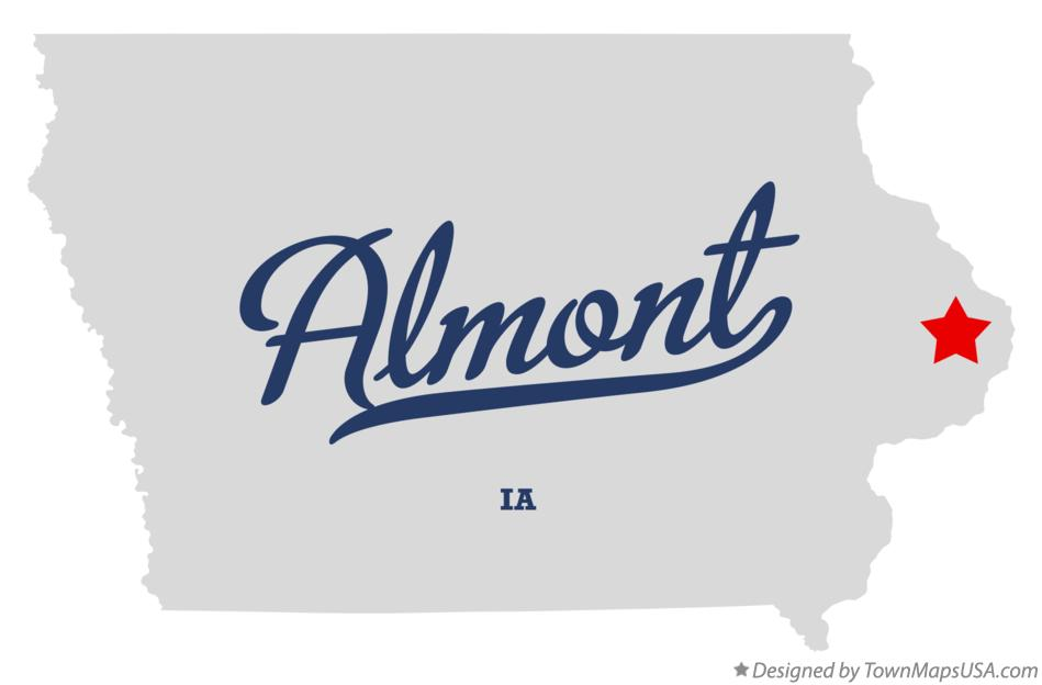Map of Almont Iowa IA