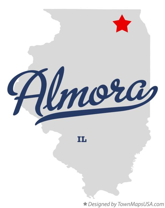 Map of Almora Illinois IL