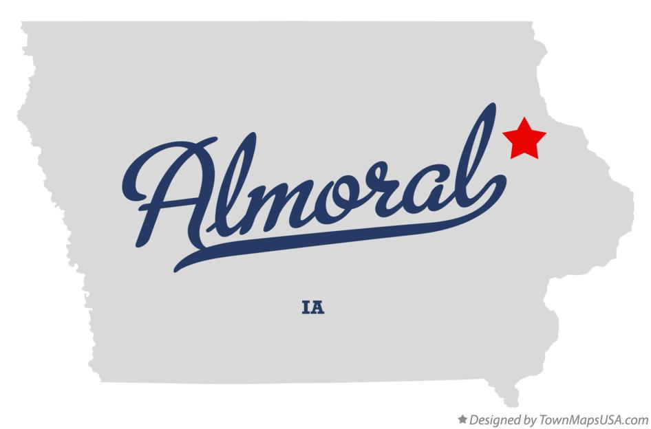 Map of Almoral Iowa IA