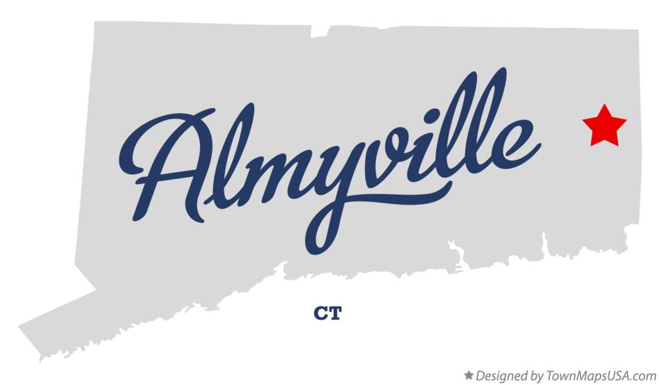 Map of Almyville Connecticut CT
