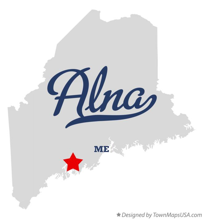 Map of Alna Maine ME
