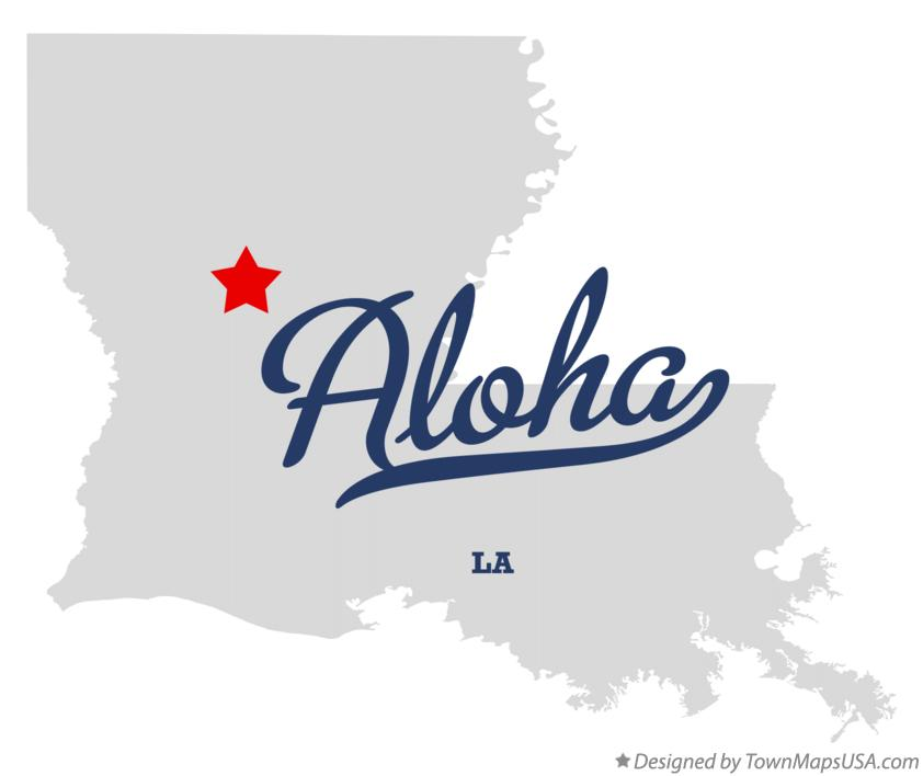 Map of Aloha Louisiana LA