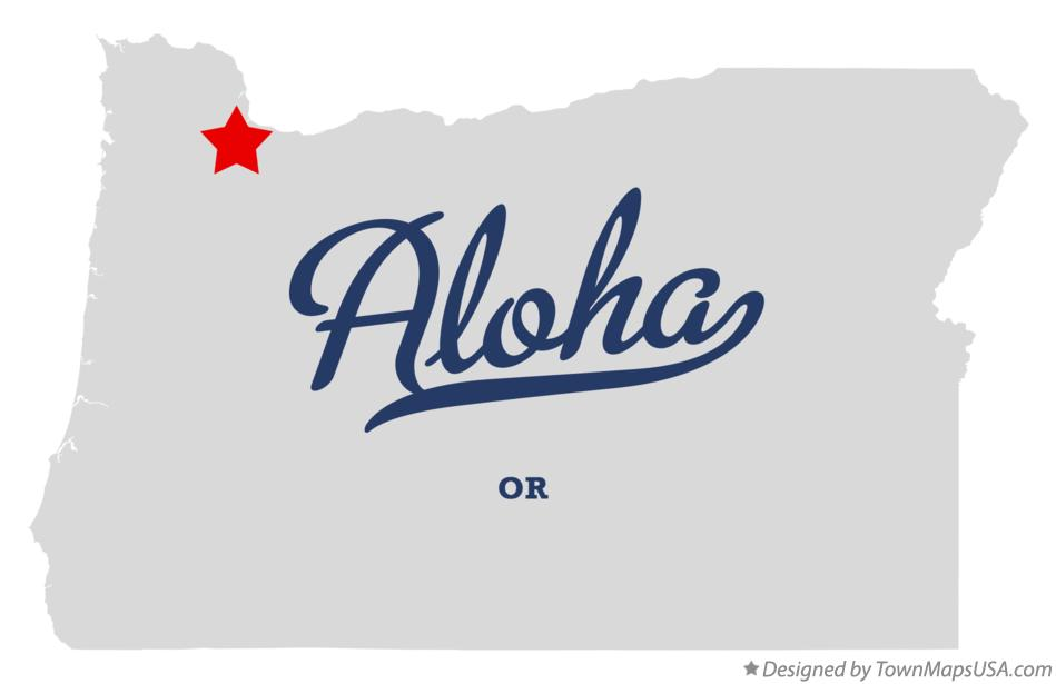 Map of Aloha Oregon OR