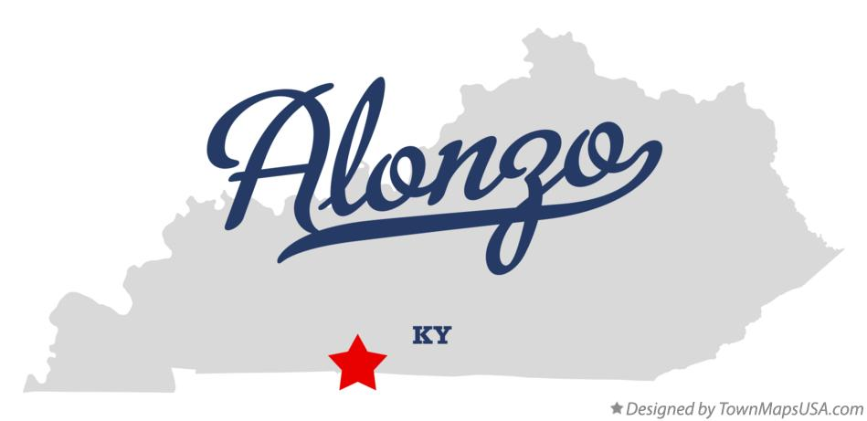 Map of Alonzo Kentucky KY