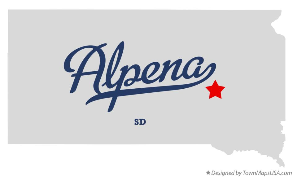 Map of Alpena South Dakota SD