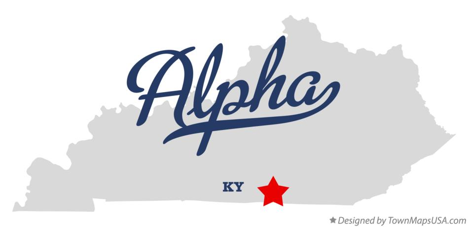Map of Alpha Kentucky KY