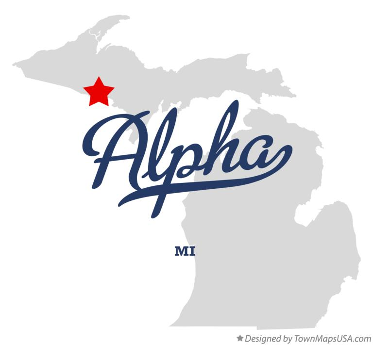 Map of Alpha Michigan MI