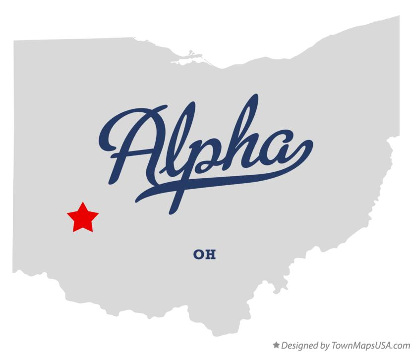 Map of Alpha Ohio OH