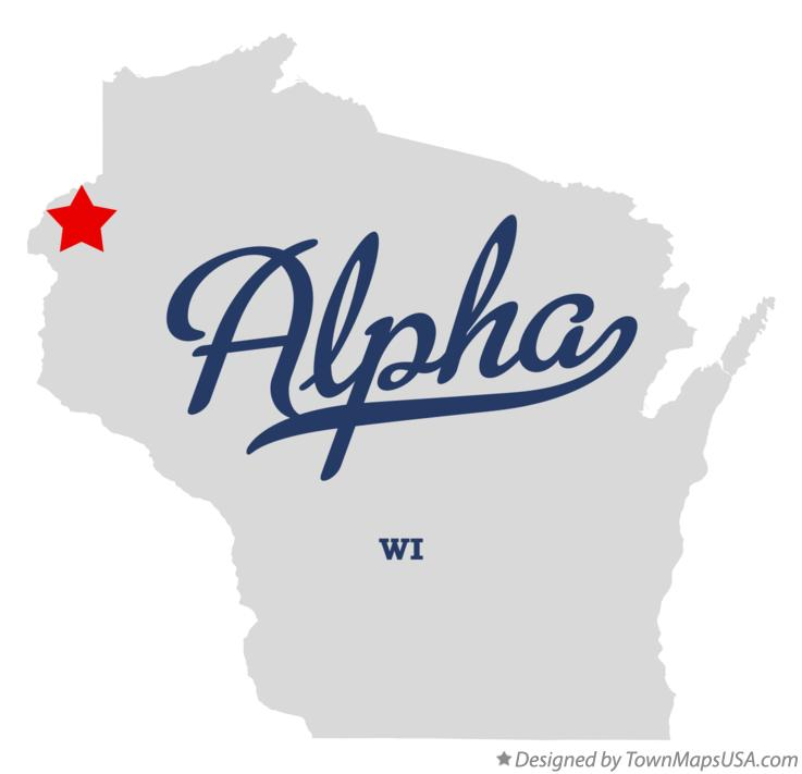 Map of Alpha Wisconsin WI