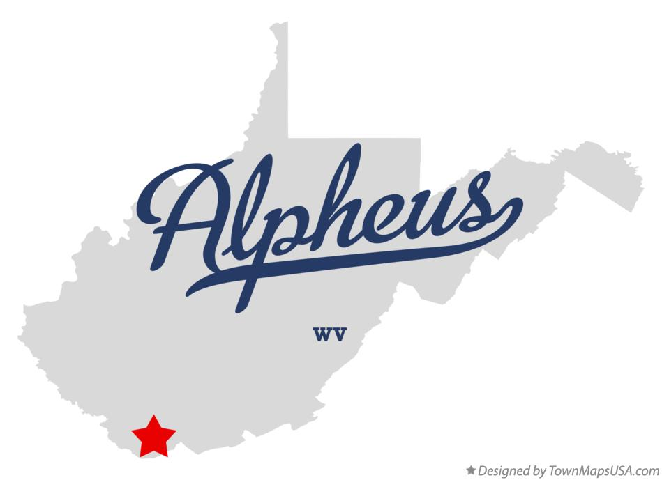 Map of Alpheus West Virginia WV