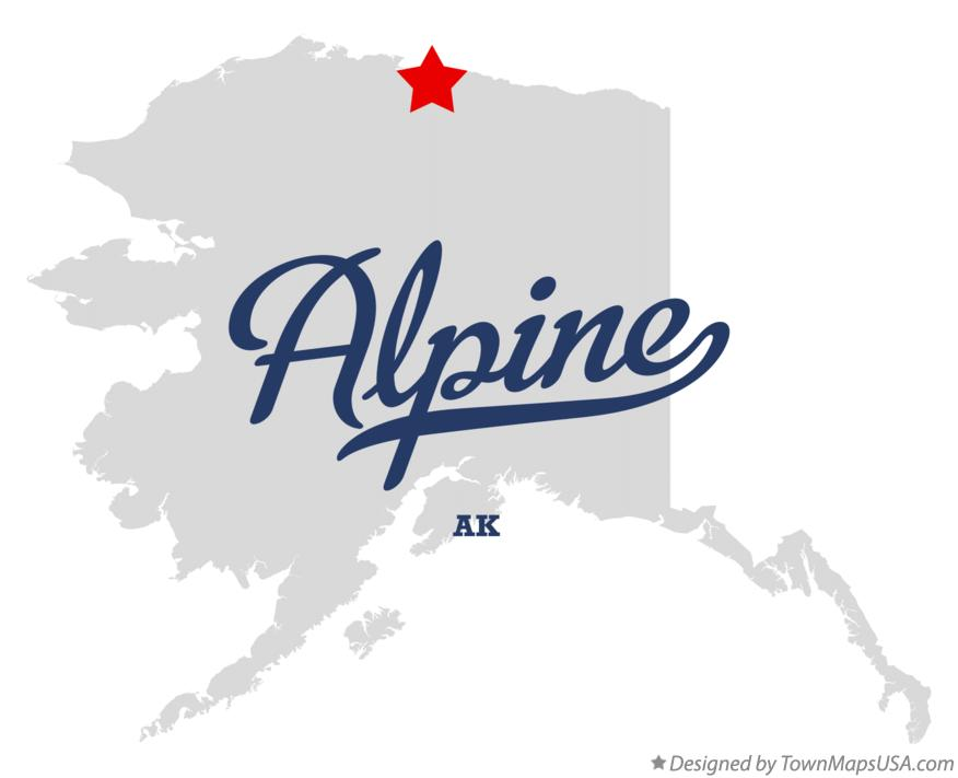 Map of Alpine Alaska AK