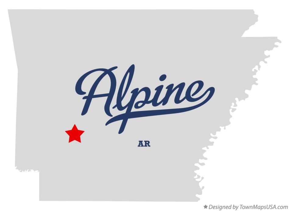 Map of Alpine Arkansas AR