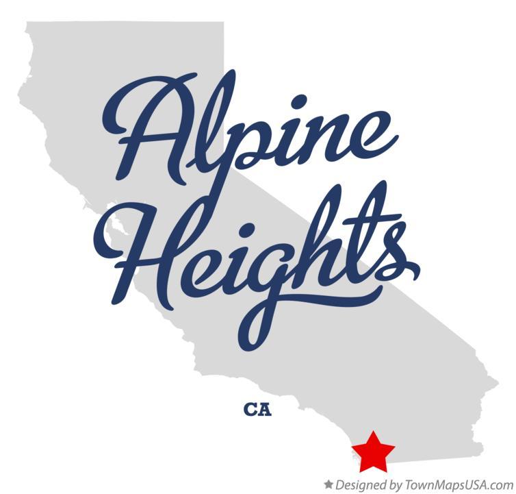 Map of Alpine Heights California CA