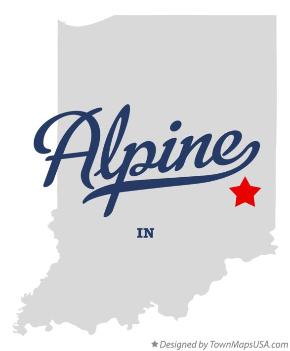 Map of Alpine Indiana IN