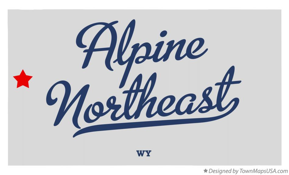 Map of Alpine Northeast Wyoming WY