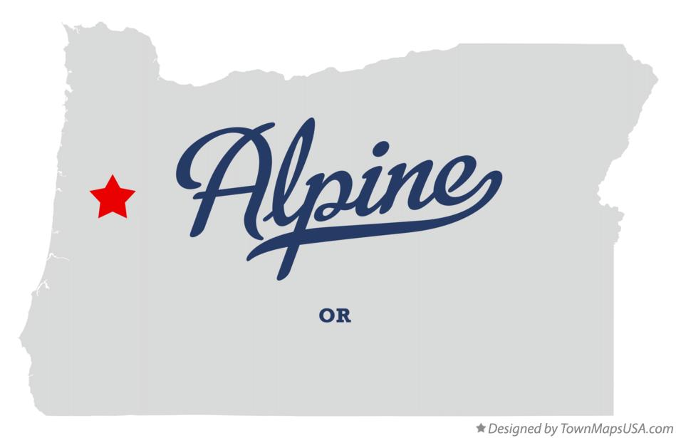 Map of Alpine Oregon OR