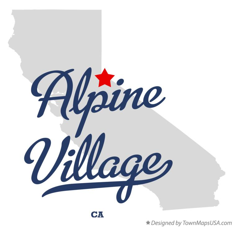 Map of Alpine Village California CA