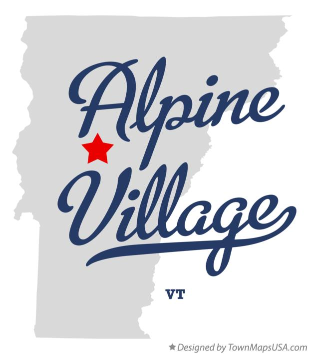 Map of Alpine Village Vermont VT
