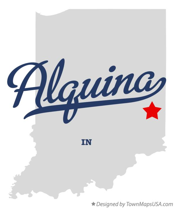 Map of Alquina Indiana IN