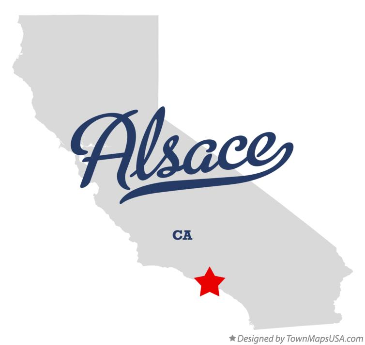 Map of Alsace California CA