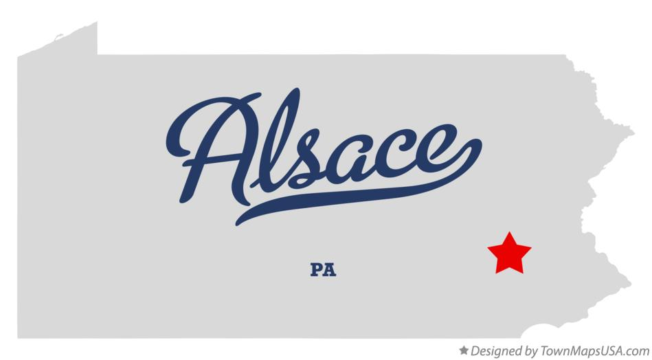 Map of Alsace Pennsylvania PA